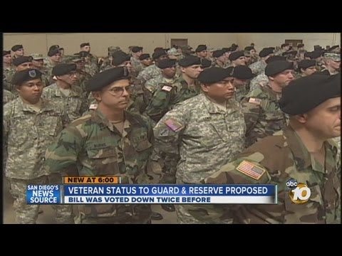 Veteran status proposed for National Guard and Reserve