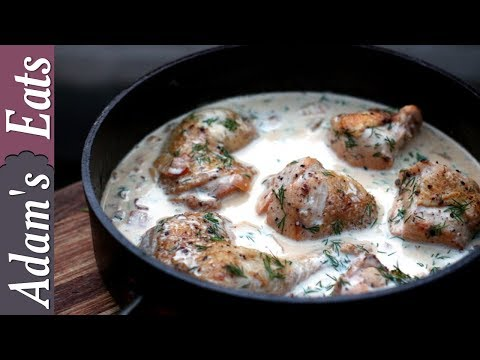 Chicken in a creamy white wine sauce with dill   Chicken recipes