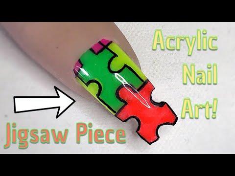 Jigsaw Piece Nail! | Acrylic Nail Art | Nail Sugar