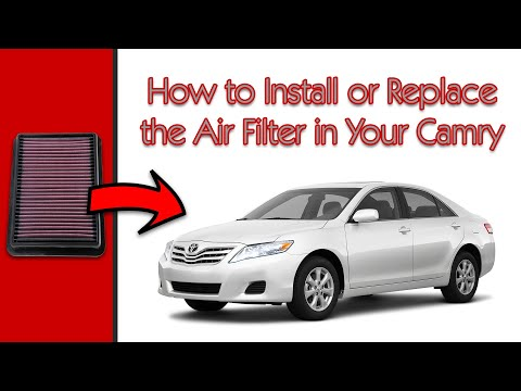 2011 Toyota Camry: How to Replace the Air Filter