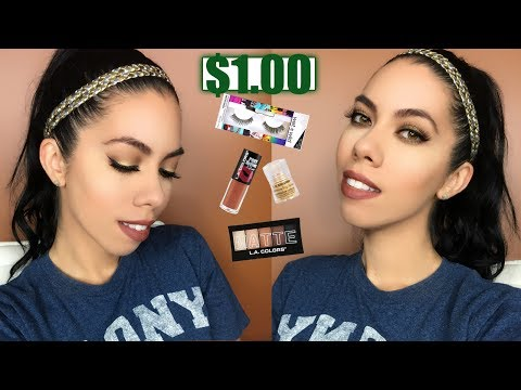 Dollar Store Makeup Challenge I Eyes and Lips