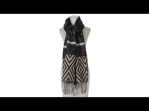 Curations Caravan Woven Wrap with Fringe