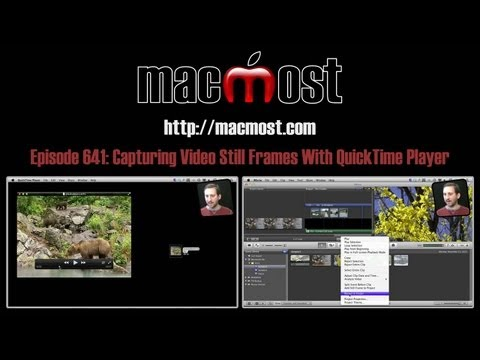 Capturing Video Still Frames With QuickTime Player (MacMost Now 641)