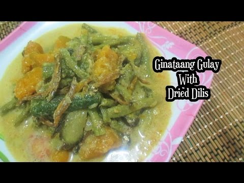 Ginataang Gulay With Dried Dilis (Vegetable and Dried Anchovies In Coconut Milk)