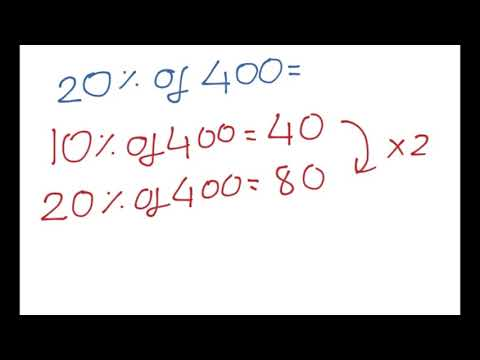 Percentages - How to find the Percentage of a number FAST!
