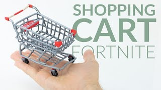 Shopping Cart (Fortnite Battle Royale) – Polymer Clay Tutorial