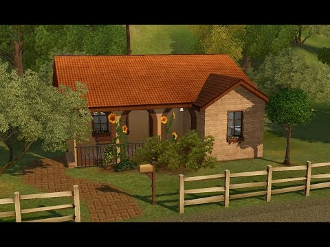 Sims 3 House Building - Bel Casolare (Italian Starter Home)