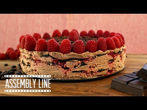 Raspberry Mocha Ice box Cake | Assembly Line