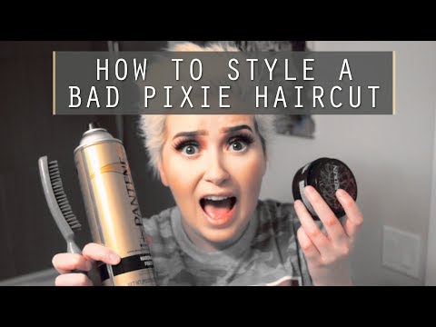 How to style a BAD Pixie Haircut | A Poisoned Production