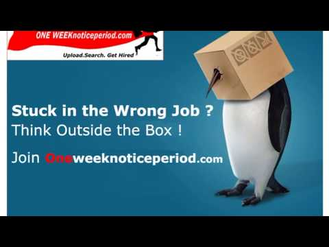One Week Notice Period  -Job Portal for People Serving Notice Period
