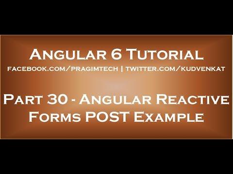 Angular reactive forms post example