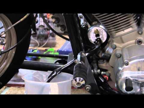 Scavenger Total Oil Change system on a Harley-Davidson FXR
