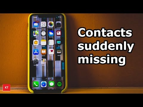 Contacts suddenly disappeared:  This may be the reason