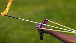 How to Make a Slingbow That Shoots 300km/h Flaming Arrows!