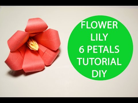 Paper Flower Lily Origami Tutorial DIY Decoration Lei