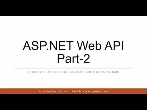 ASP.NET Web API - 2 : Create a .NET Client Application to consume ASP.NET Web API