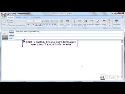 Comment envoyer son premier email avec Outlook 2007 ?