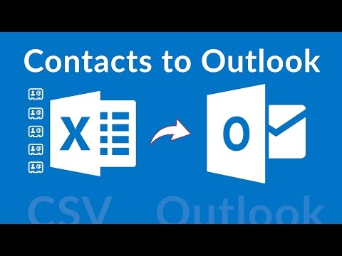 How to Import Contacts to Outlook Using CSV File