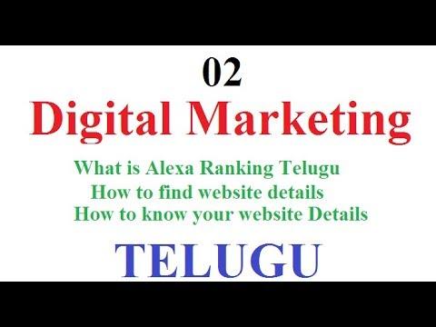 Digital Marketing Class 02 | What is Alexa Ranking Telugu | How to find website details-vlr training