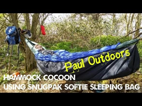 Hammock Cocoon Using Snugpak Softie Sleeping Bag