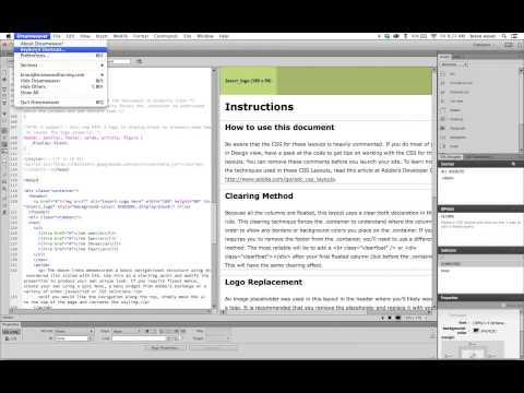 Change code font size in Adobe Dreamweaver