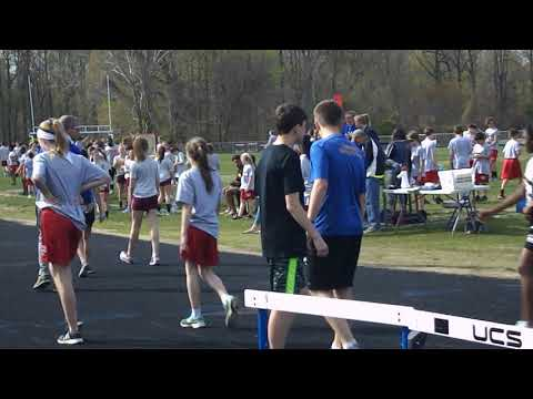 grace 100 meter run for the first time 1st place  2018