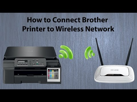 Brother DCP T500W Wifi Setup || How to connect Printer to Wireless Network