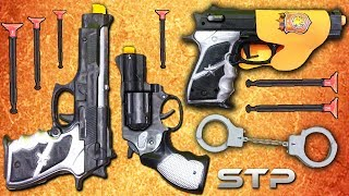 Dart GUNS TOYS Unboxing   Police Force Military Toy Guns Shoting Test