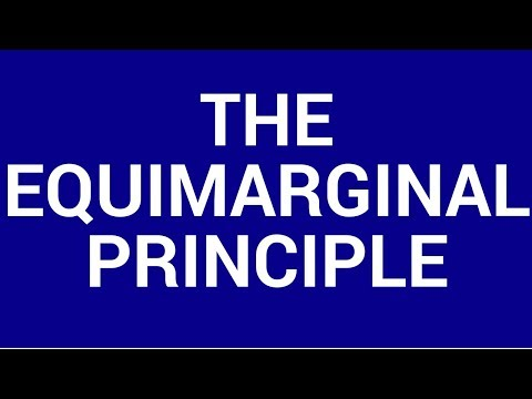 The equimarginal principle