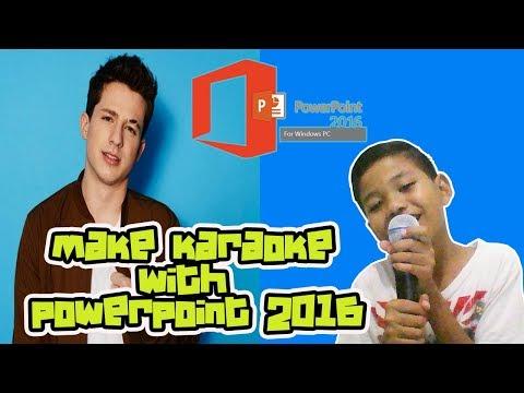 Tutorial Karaoke dengan Power Point 2016
