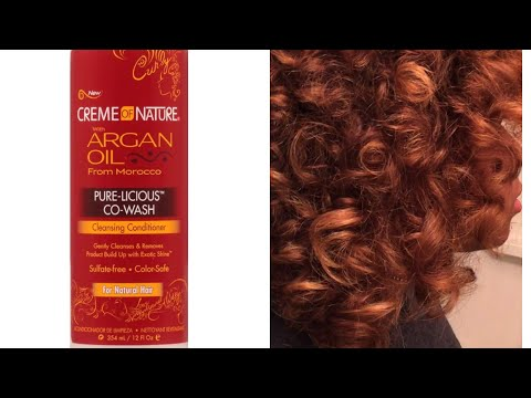 ROLLER SET ON A CO- WASH!!! Using creme of nature with argan oil pure- licious co wash