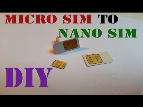 Micro SIM to nano SIM DIY