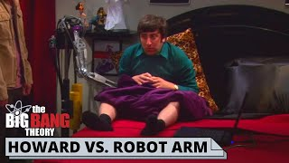 HOWARD STUCK IN A ROBOT HAND   The Big Bang Theory best scenes