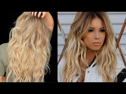 BIG Sexy Messy Waves Tutorial with extensions | LustreLux