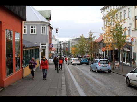 Reykjavik Iceland, by bus & on foot
