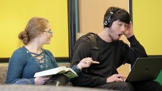 Blasting INAPPROPRIATE Songs (PART 10) in the Library PRANK