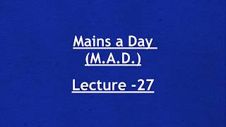 Answer Writing for UPSC Mains - Day 27