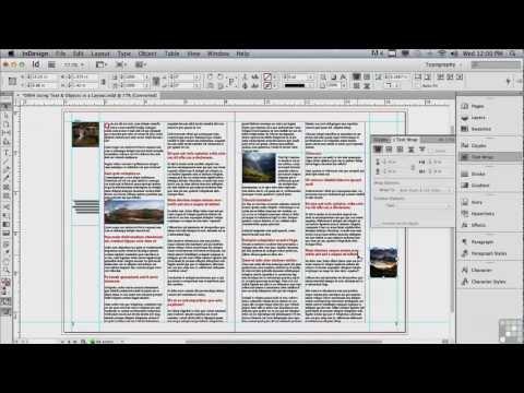 Adobe InDesign CS6 Tutorials | Text and Objects | InfiniteSkills
