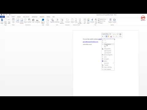 Microsoft Word Hyperlinks - Linking Websites, Emails and Files in a Document
