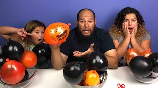 Making Slime With Balloons! Slime Balloon Tutorial Halloween Edition