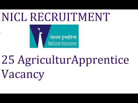 National insurance company limited 25 Agriculture apprentice openings
