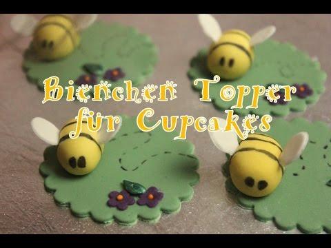 Cupcake Bienen Topper/ Bee Topper/Fondant Tutorial