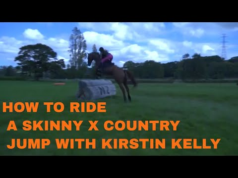 How to ride a skinny cross country jump with Kirstin Kelly Equestrian