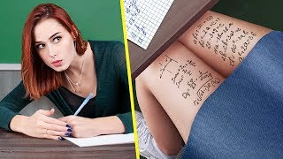 13 Cool Hacks With School Supplies / Things You Should Never Do In School