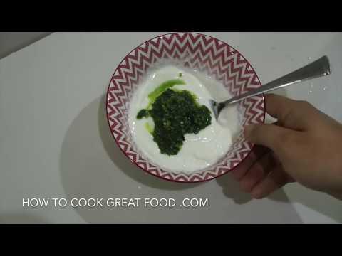 🇮🇳 Mint Chutney Recipe - Yoghurt Curry house version