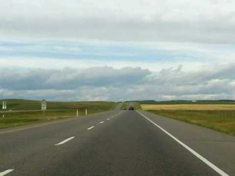 Calgary to Canmore, Alberta Drivelapse: TakeMyTrip.com Time Lapse