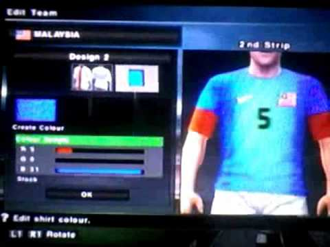 Make away jersey Malaysia 2012-2013 in pes (New) (Ps2)