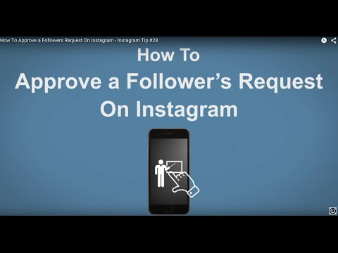 How To Approve a Followers  Request On Instagram - Instagram Tip #28