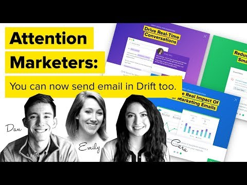 Introducing Drift Email For Marketing. Turn Your Emails Into Conversations That Close Leads Faster.