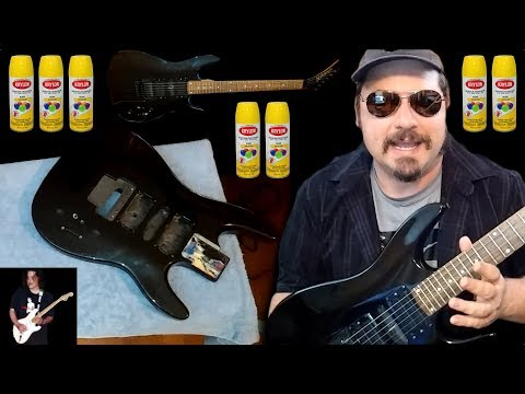 How To Paint A Guitar Like Van Halen - Part 1
